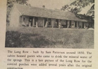 long row cabins